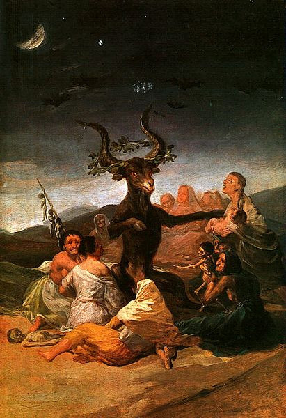 """El Aquelarre"" (1797-98). Francisco Goya. Illustrasjon: Wikimedia Commons."