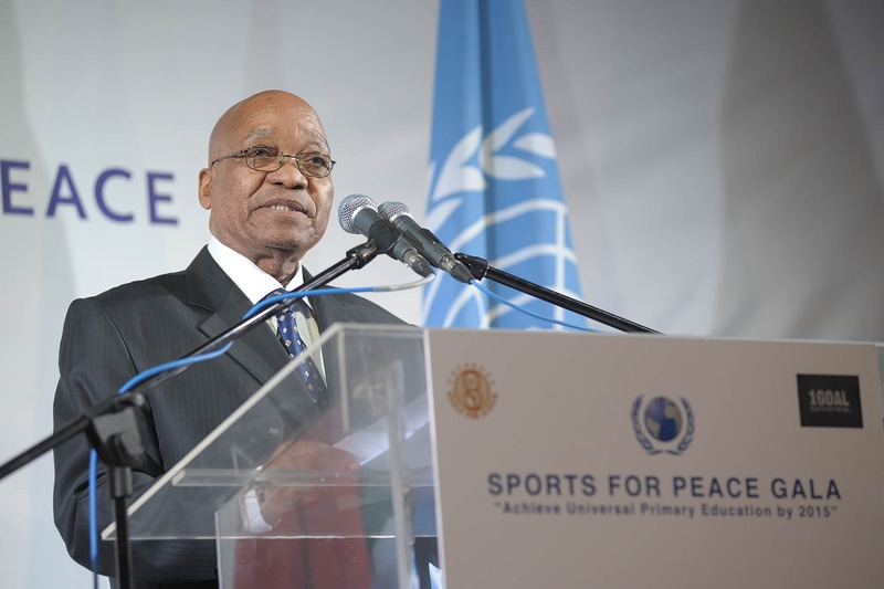 President_Zuma. Foto. Sports for Peace. wikimedia commons.