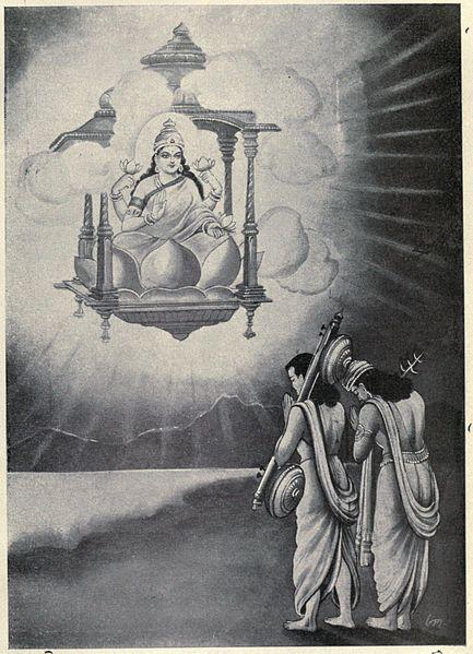 Lakshmi. Illustrasjon: Wikimedia Commons