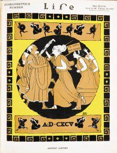 Lysistrata-inspirert forside av amerikanske Life Magazine i 1913 - Wikimedia Commons.