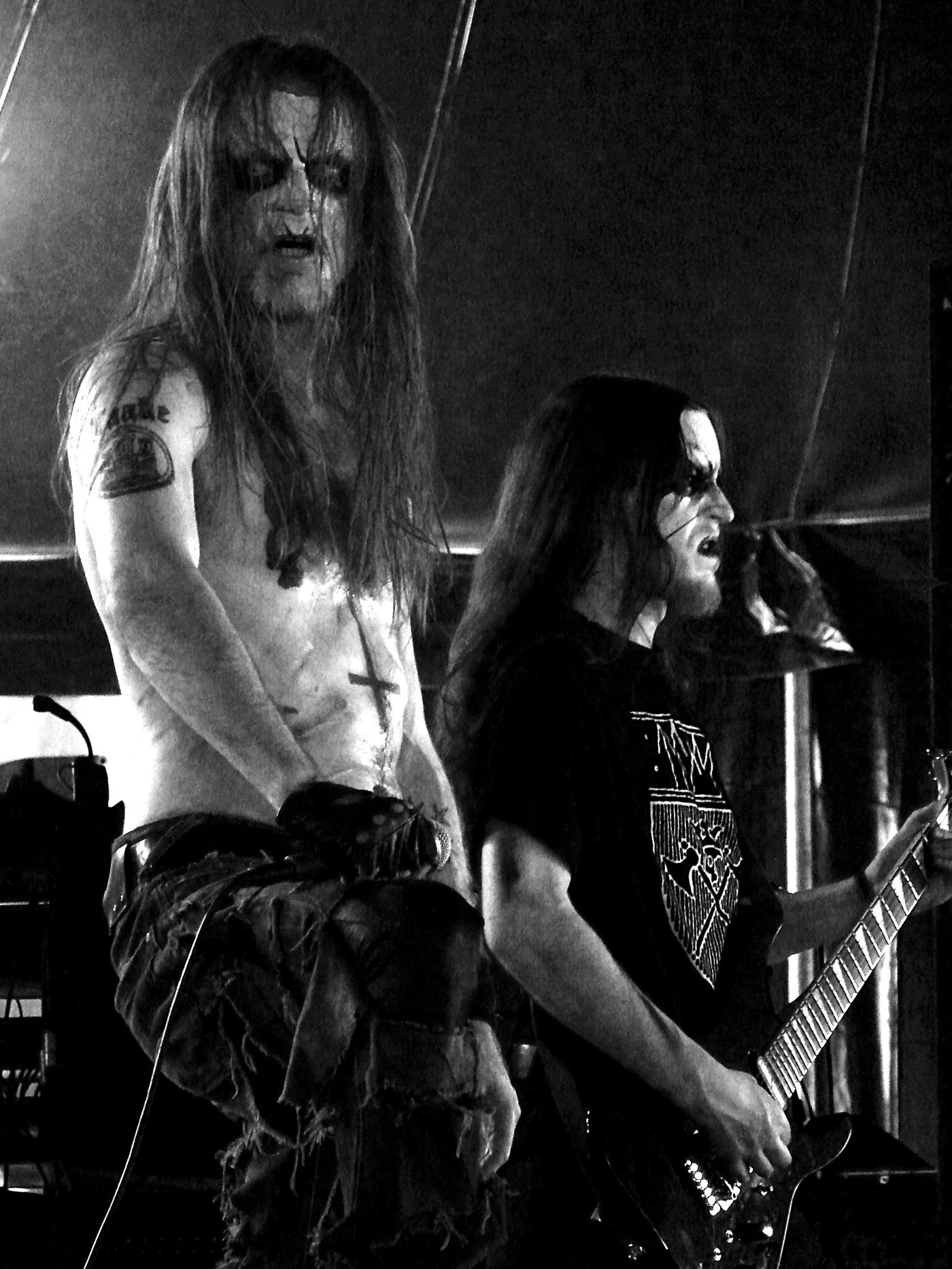 Taake på Hellfest i 2009. Foto: Vassil.