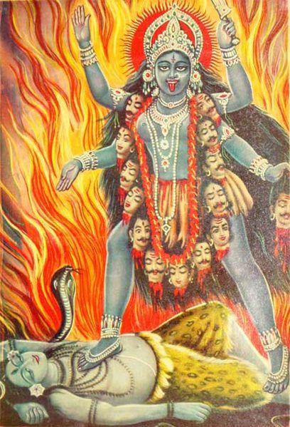 Gudinnen Kali. Kilde: Wikimedia Commons.
