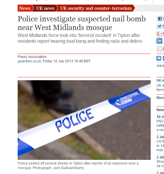 Digitalfaksimile fra The Guardian.