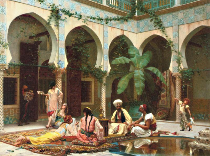 Haremscene av Gustave Clarence Rodolphe Boulanger (1824-1888) - Wikimedia Commons