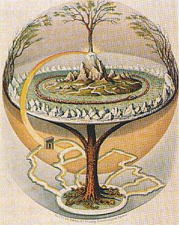 Yggdrasil av Oluf Olufsen Bagge - Wikimedia Commons.