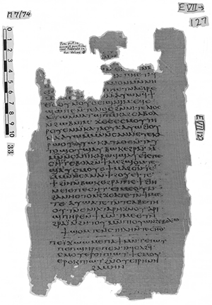 Siste side av Nag Hammadi kodeks VII. Foto: Claremont Colleges Digital Library