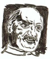 Martin Heidegger var omstridt på grunn av sin kobling til tyske nazister, men regnes som en av det 20. århundrets viktigste filosofer. Tegning av Herbert Wetterauer. Kilde: Wikimedia Commons